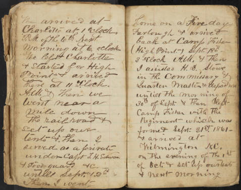 W.A. Mauney Diary page 2